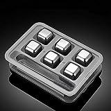 Cubos de hielo de acero inoxidable 304 de grano de hielo para whisky, tartar, cerveza, metal y hierro, cubitos de hielo congelados para el hogar Gris 3