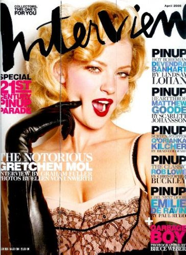 Interview Magazine - April 2006 - Gretchen Mol By Graham Fuller Cover