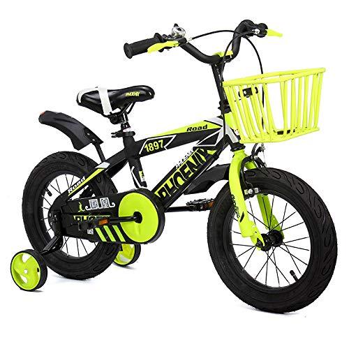 XXCZB Vélos Bicyclettes mâles et Femelles Intérieur Petit vélo Tricycle extérieur 3~12 Ans Voiture pour Enfants Belle Bicyclette (Couleur: Rouge Taille: 12 Pouces)-12 Pouces_Jaune