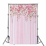 Konpon 150x 220cm seda rosa flores fondo fotografía de boda telón de fondo lavable. Estudios...