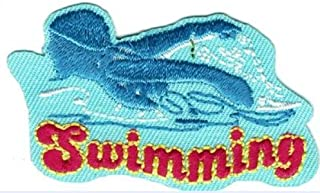 Cub Girl Boy SWIMMING Embroidered Iron-On Fun Patch Crests Badge Scout Guides