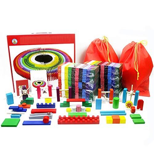 LYQZ Domino-Set, Kinder Standard-Wettbewerb 300/1000 Stück Holz Puzzle Block Spielzeug for Erwachsene (Size : 400 pcs)