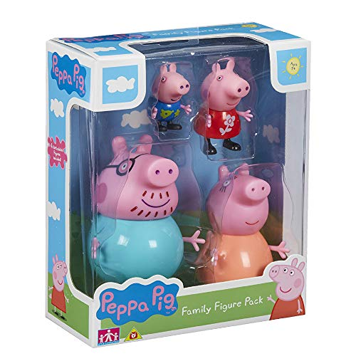 Peppa Pig - Pack de 4 figuras Familia