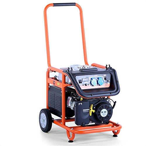 Fuxtec Benzin Stromerzeuger FX-SG3800, 3000 Watt Leistung, 7,5 PS 4-Takt Motor mit 210cc Hubraum - 2X 230V Anschluss - Tsturteil der HeimwerkerPraxis Note 1,5