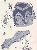 pineapple drawstring purse bag handbag & belt crochet pattern (english edition)