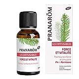 Pranarôm Les Diffusables - Miscela di oli essenziali per diffusore, forza e vitalità, freschezza tonificante e stimolante, pino e Ravintsara, Bio (Eco) - 30 ml