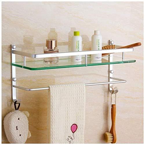 Badezimmer Racks Ausgeglichenes Glas Trennwand Handtuchhalter Aluminiumlegierung 18 * 40cm LITING (Color : 18 * 40cm)