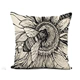 N\A Throw Pillow Cover Bouquet Beautiful Bee on Flower Floral...