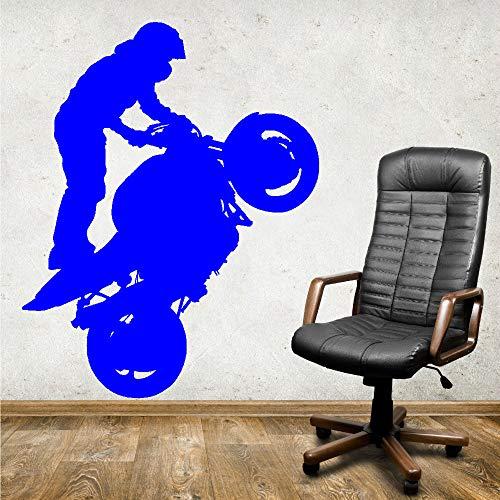 Zaosan Deportes Extremos Motociclista de pie Vinilo Adhesivo Arte Mural Etiqueta de la Pared decoración Sala de Estar Papel Tapiz