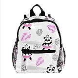 Süße Panda-Ballerinas, Jungen Rucksäcke für die Schule Süße Rucksäcke für Kinder Teen Kleinkind Fashion Daypack Rucksack Reise Laptoptasche
