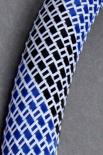 Kaya Nylon Frame Schlauch mit Sleeve - Weiß-Blau-Schwarz - Länge: 1,50cm - für jede Wasserpfeife geeignet