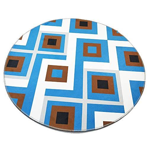 Ybzbx Unterlegteppich Pers?nlichkeit Blaues Quadrat Einfache Runde Computer Drehstuhl H?ngekorb Nordic Teppich