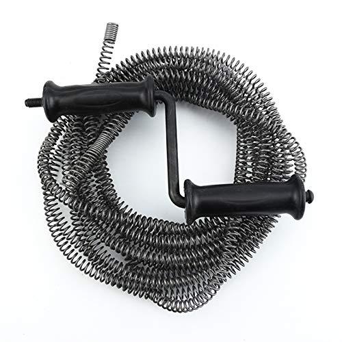 WYanHua-Primavera Limpiador de la compresión de la serpiente de la serpiente de drenaje, limpiador de tubería de drenaje de resorte del resorte del resorte de la manija de 10 m, 2 mm * 13 mm de diámet
