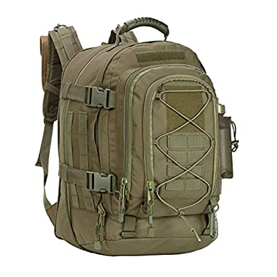 Military Tactical Backpack,Army Molle Assault Rucksack, Green, Size Large