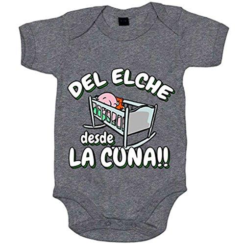 Body bebé del Elche desde la cuna - Gris, 6-12 meses