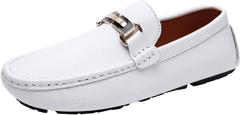 Mans läder Knieves Business Casual skor Pappa skor Peas Peas Peas skor (färg  vit Sole, Storlek  41)  den mest fashionabla