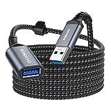 NIMASO 3M Cable Alargador USB 3.0, Cable USB 3.0 Macho A Hembra Super Rápida 5 Gbps para Mouse,Teclado,Pendrive,Disco Externo,TV,Concentrador,Impresora,Computadora, Cámara, Gafas VR y Otros-Gris