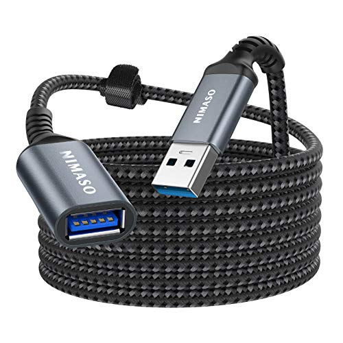 Nimaso 3M Cavo Prolunga USB 3.0, Cavo USB Maschio e Femmina 5Gbps Cavo Estensione USB 3.0 per Chiavetta USB, Hub USB, Disco Rigido Esterno, Tastiera, Mouse, Stampante, Videocamera, Gamepad ECC