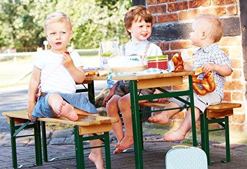 Pinolino Kinderfestzeltgarnitur Sepp, aus Holz und Metall, 3-teilig, einfach zusammenklappbar, empfohlen für Kinder ab 3 Jahren - 3