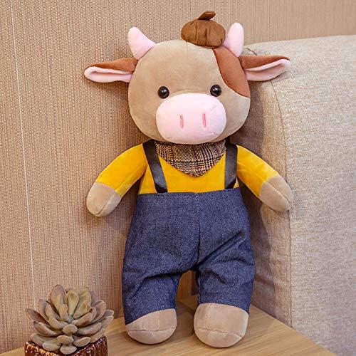 Doinbtoy Un par de muñecos de Vaca muñeco de Peluche muñeco de Vaca Regalo de cumpleaños para niños 32cm Hombre-d