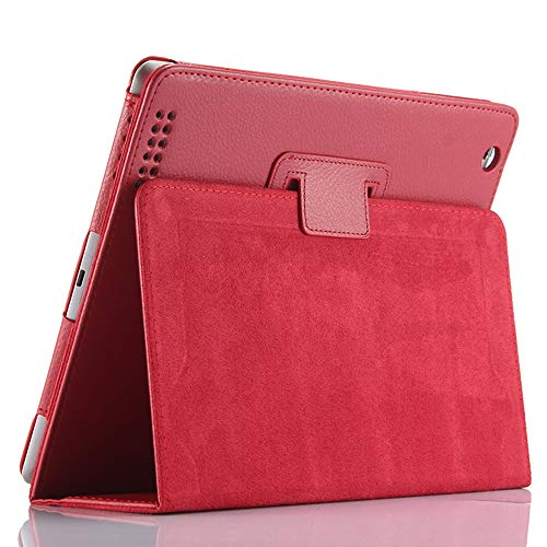iPad 2 3 4 9.7-inch(Old iPad Edition) Case,FANSONG Bi-fold Series Litchi Stria Ultra Thin Magnetic Leather Smart Protective Cover Case [Flip Stand,Sleep Function] for Apple iPad 2nd 3rd 4th Generation