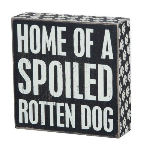 Primitives by Kathy 22226 Paw Print Trimmed Box Sign, 6