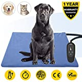 Pet Heating Pad,Dog Electric Heating Pad,75x45CM Large Waterproof Heating Pad for Cats,Heated Mat Bed Safety Heating Indoor Adjustable Warming Mat for Pets with 210CM Length Chew Resistant Steel Cord