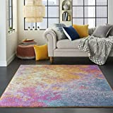 Nourison Passion Modern Abstract Colorful Sunburst Area Rug, 5'3' x 7'3'