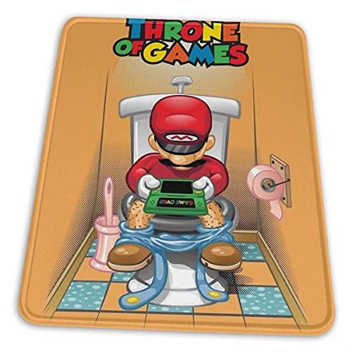 N\A Throne of Games (2) Alfombrilla de ratón Base de Goma Antideslizante para computadora de Juegos de Oficina con Borde Cosido