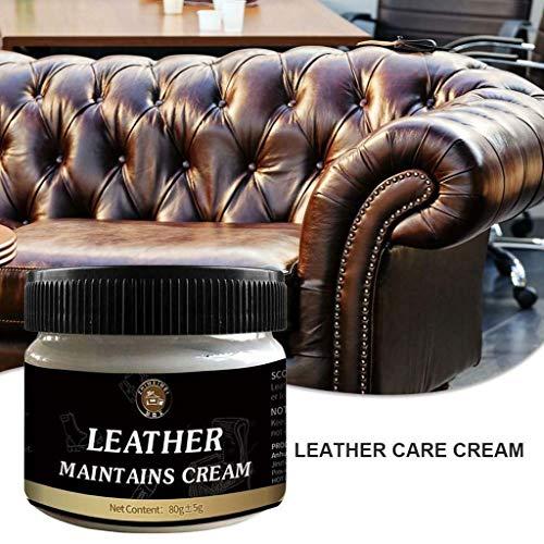 SUccess Lederpflege Leather Repair Cream Lederöl Lederreiniger für die Anwendung auf Lederbekleidung Möbeln Ledercouch Auto-Innenausstattung Schuhen, Leder Polnisches Ölcreme Conditioner 80g