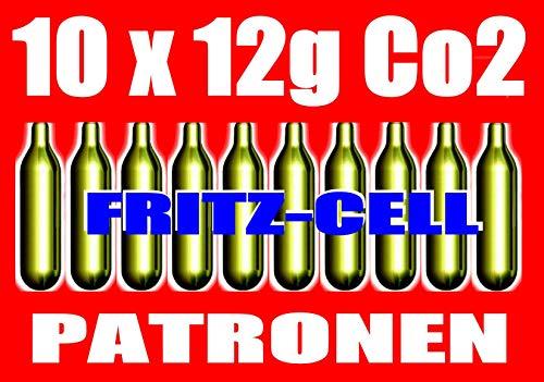 fritz-cell 10 12g Co2 Kapseln für Softair, Painball, Luftpistolen oder Luftgewehre