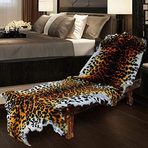 Schaffell Teppich 1-2cm Kurzes Haar Muster Drucken Einfache Reinigung Rutschfeste Matte Für Stuhl...
