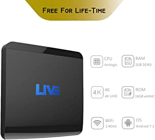 International IPTV Receiver Box,4K Live IPTV Box 2G RAM 16GB ROM Lifetime Subscription 1500+ Global Live Channels from From Brazilian Arabic India US Europe,Includes Movies Sports News Adult Program
