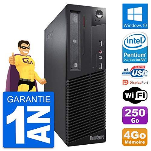 Lenovo PC ThinkCentre M73 SFF Intel G3220 RAM 4 GB Disco 250 GB Windows 10 WiFi (Reacondicionado)