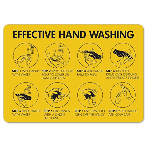 Coronavirus Notice Sign - Effective Hand Washing | Vinyl Decal | Protect Your Business, Municipality, Home & Colleagues | Made in The USA