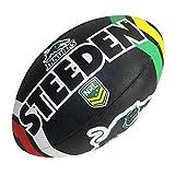 Steeden NRL Ballon de rugby supporter Panthers 2020 Noir/Blanc, Noir , 5