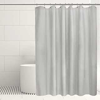 Ebecede Extra Long Gray Fabric Shower Curtain 72 x 78, Bathroom Shower Curtain 78 inch Long for Home Spa Hotel Quality, Silver Grey