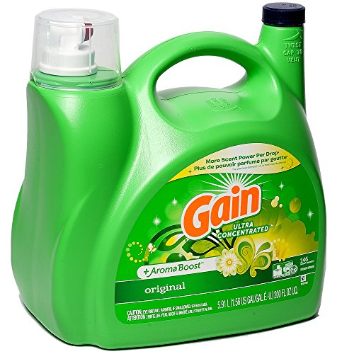 Ultra Concentrated amp Aroma Boosted New Gain Original Liquid Laundry Detergent 591 L / 200 Fl Oz  146 Loads 2X Ultra Concentrated