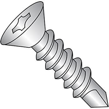 3//4 Length Pack of 50 Undercut 82 Degree Flat Head Pack of 50 3//4 Length Small Parts 0812KPU188 #8-18 Thread Size Phillips Drive #2 Drill Point Plain Finish 18-8 Stainless Steel Self-Drilling Screw