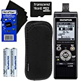 Olympus WS-853 Digital Voice Recorder (Black) with Direct USB + 16GB MicroSD Memory Card +...