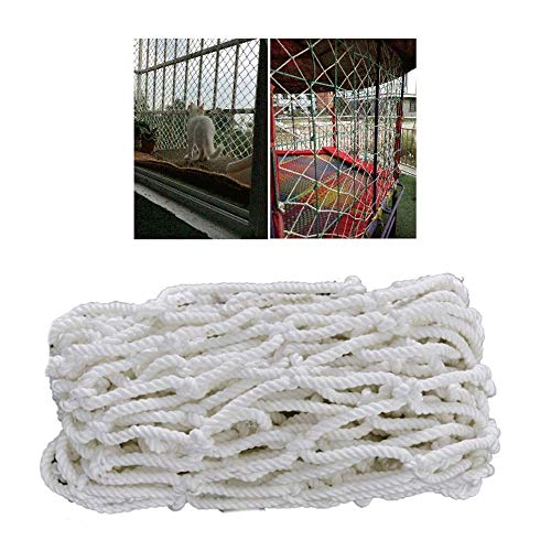 CHHD Schutznetz Sicherheitsnetz Frachtnetz Fußballnetz Fett Nylon 5mm/5cm Für Kinderspiel Home Decoration (weiß)
