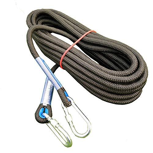 Corda di sicurezza multifunzionale 14 millimetri nero arrampicata corda professionale Accessori Pettorine...