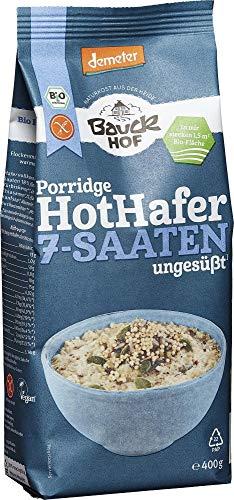 Bauckhof Bio Hot Hafer 7-Saaten glutenfrei Demeter (2 x 400 gr)