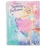 Depesche 11051 Malbuch, Model Ballett, Create Your Fantasy Ballerina, ca. 20 x 26 x 2 cm
