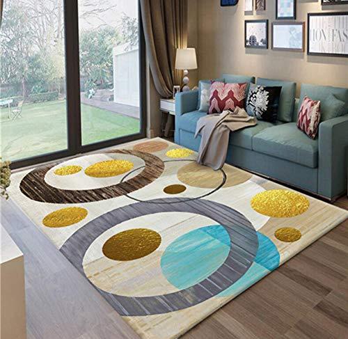 Teppich Nordischen Geometrischen Stil Polyester Schlafzimmer Wohnzimmer Dekorative Sofa Teppich Tisch Yoga Mat 80cmx150cm