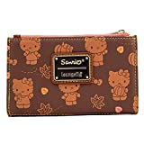 Loungefly Hello Kitty Pumpkin Spice All Over Print Flap Wallet