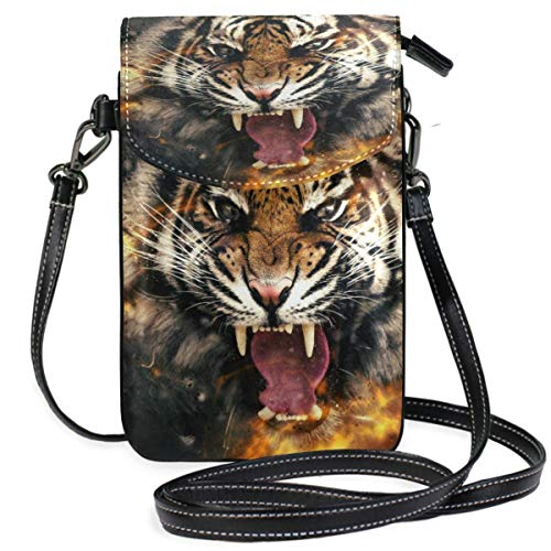 XCNGG Tiger Fire Cell Phone Purse Crossbody Bag Pouch Shoulder Bags Wallet for women Girls Travel Wedding