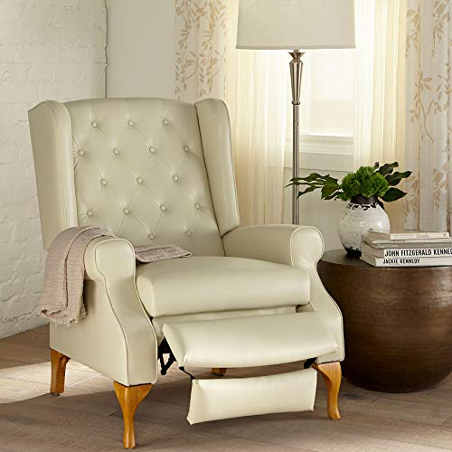 BrylaneHome Queen Anne Style Tufted Wingback Recliner (400 lb. Capacity)
