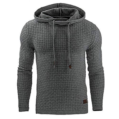 Hombre Suéter Otoño/Invierno Color sólido Sencillo Deportes Casual Suéter Chaqueta Cordón con Capucha Canguro Bolsillo M