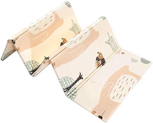 QNJM Kinderspiel-Kriechmatte, Umschaltbare wasserdichte Baby-Schaum-Kriechmatte, Ungiftige Faltende Bodenmatte Kinderspielmatte (Größe   176x119x2CM)